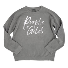 Load image into Gallery viewer, Purple + Gold Crewneck