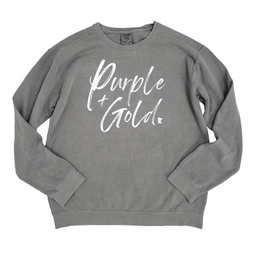 Purple + Gold Crewneck
