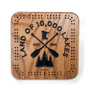 10K Lakes Cribbage Board- Small