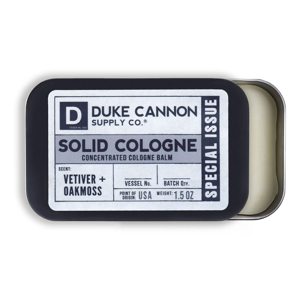 Solid Cologne - Vetiver and Oakmoss Scent