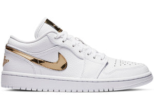 Jordan 1 Low White Metallic Gold (W)
