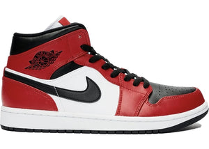 Air Jordan Retro 1 Mid (Chicago Toe)-LacedUp
