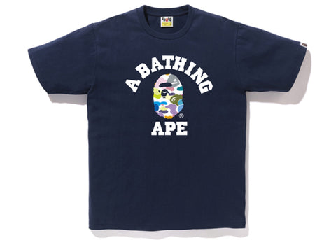 Bape Multi Camo College Tee (Navy)