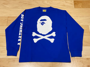 Bape Pirate Crossbones Long Sleeve Tee (Blue)-LacedUp