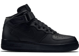 Nike Air Force 1 Mid GS (Black)-LacedUp