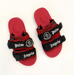 Moncler x Palm Angels x Suicoke MOTO Slides (Red)