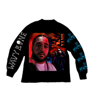 Yams Day Wavy Bone L/S Tee Black