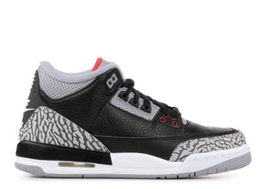 "Air Jordan Retro 3 ""Black Cement"" GS 2018"