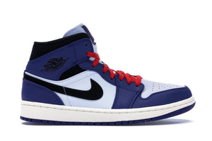 Air Jordan 1 Mid (Deep Royal Blue Black)
