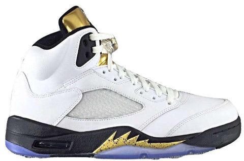 "Nike Air Jordan Retro 5 Gold ""Olympic"" Shoes"