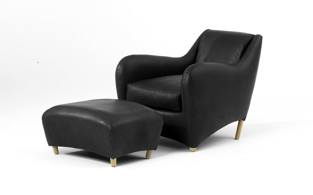 Balzac armchair with ottoman