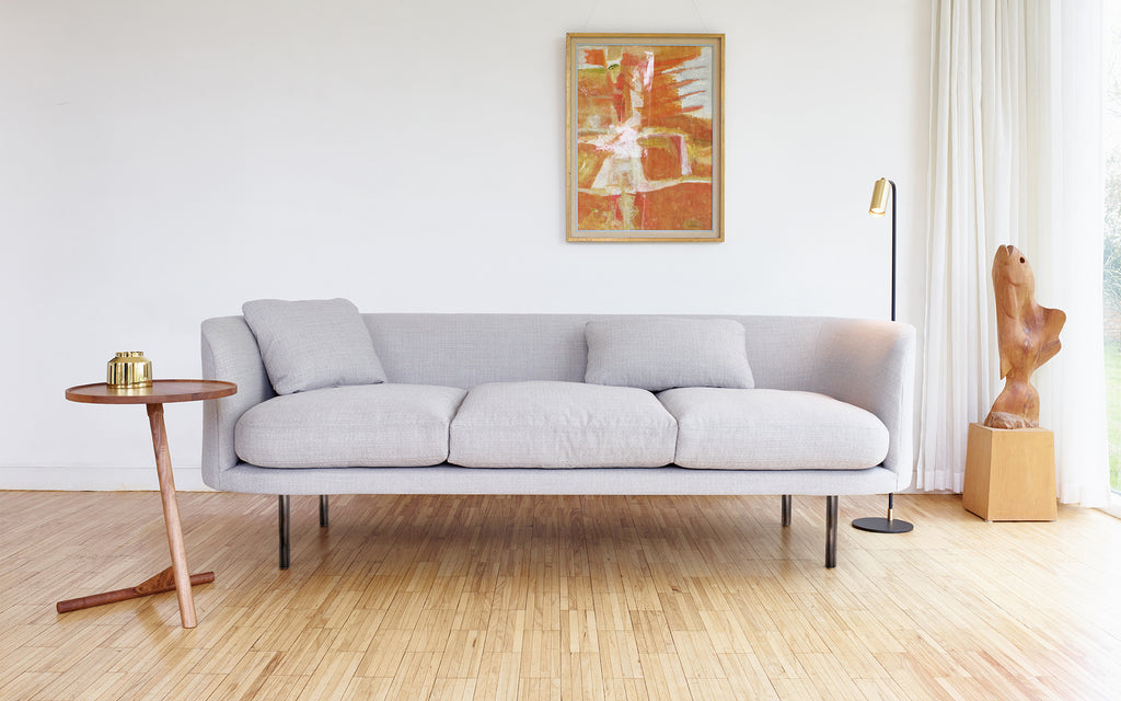 Continuous sofa - loose cushion