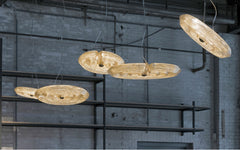 Fresnel pendant light-medium