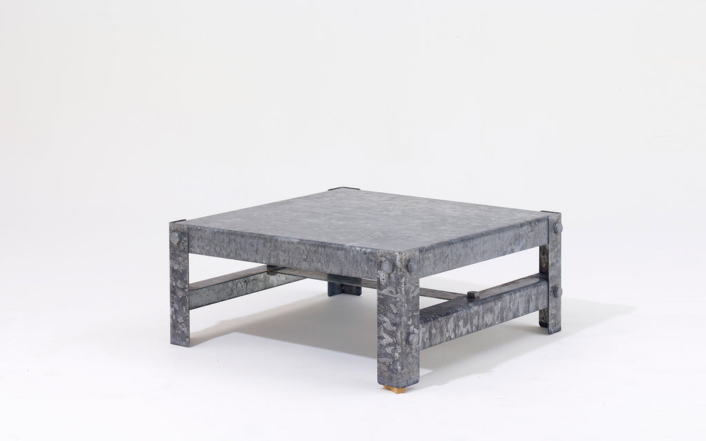 Galvanized coffee table