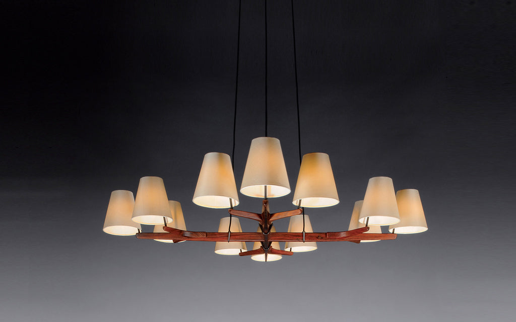 Holzstern pendant light
