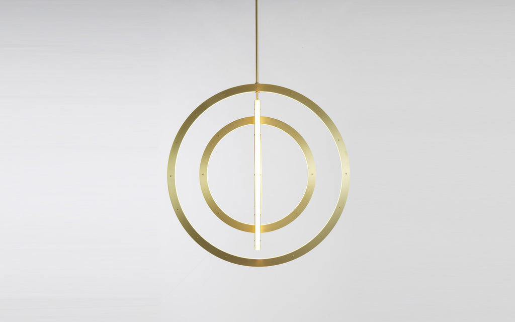 Halo vertical chandelier