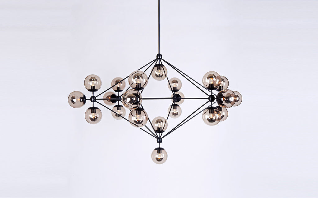 Modo Chandelier 6 Sided 21 Globes