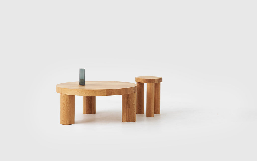 Offset stool and side table