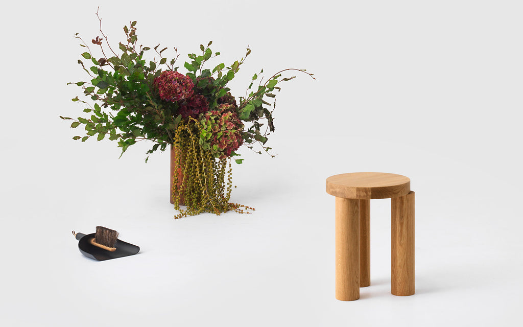 Offset stool / side table