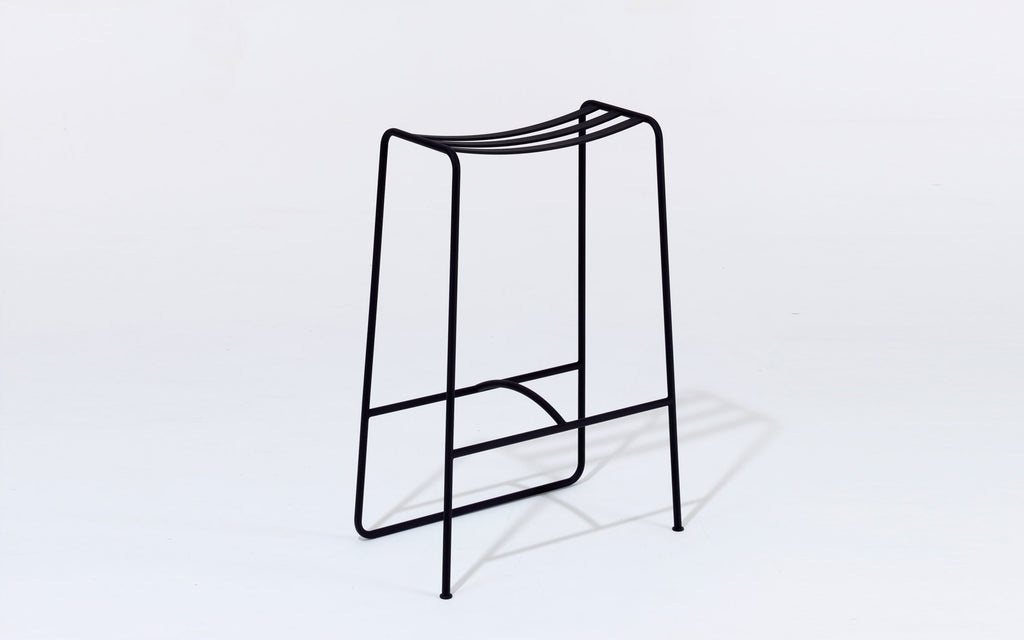 Slatted bar stool
