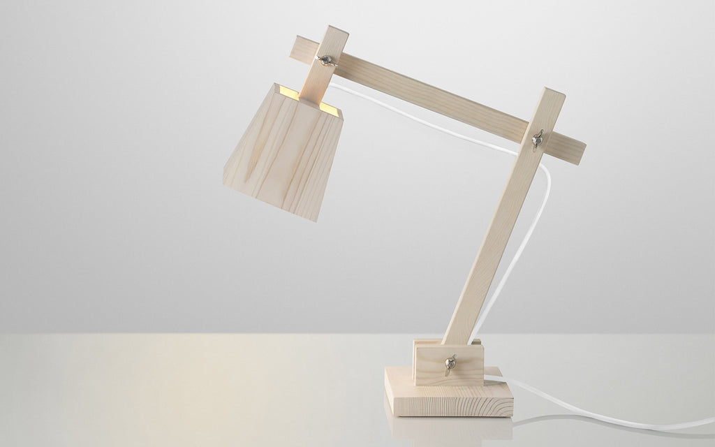Wood table light