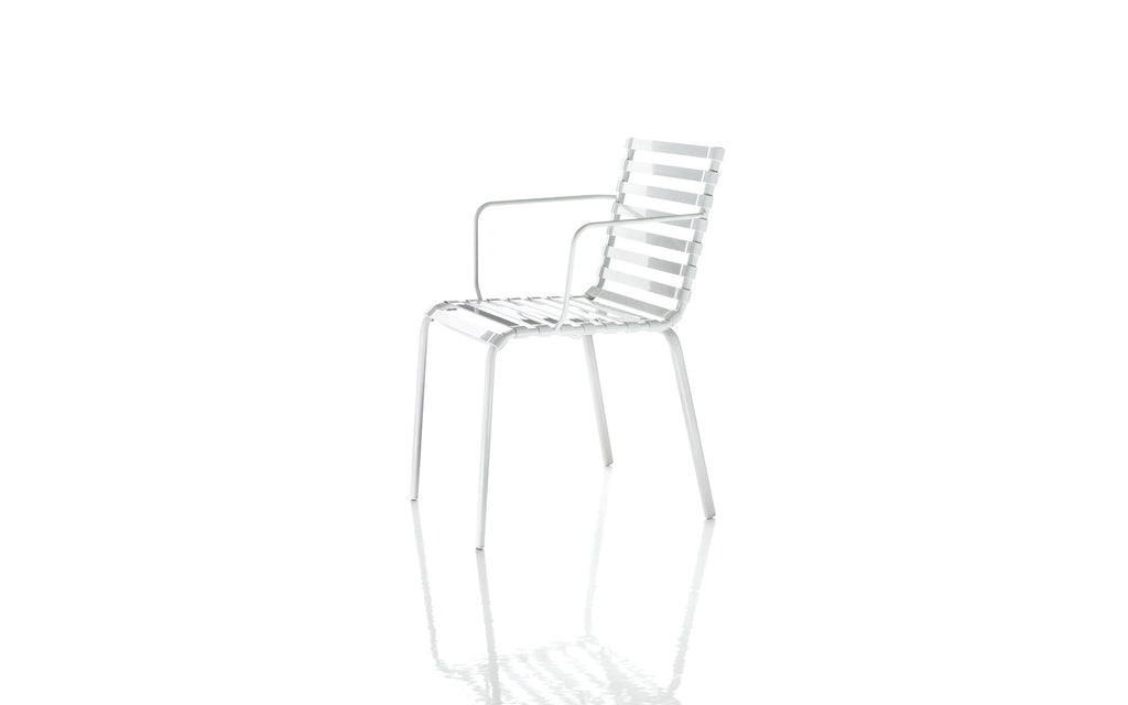 Striped chair with arms