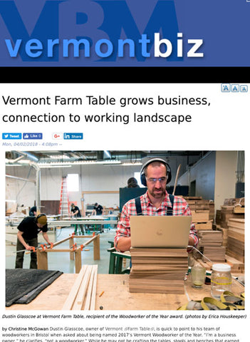 Vermont Wood Council Names Woodworker of the Year