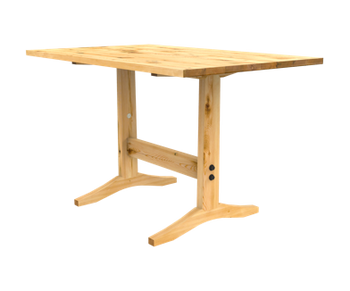 Our ready to ship Gatherer-style table in reclaimed pine.