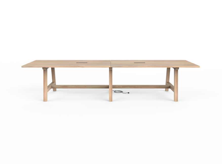 caption: Side view of A-Frame Conference Table (shown at 144