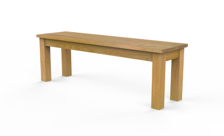 Square Wood Bench (ID: #7117)