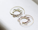 Brass Lotus Spiral hoops