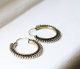 Brass detailed hoops