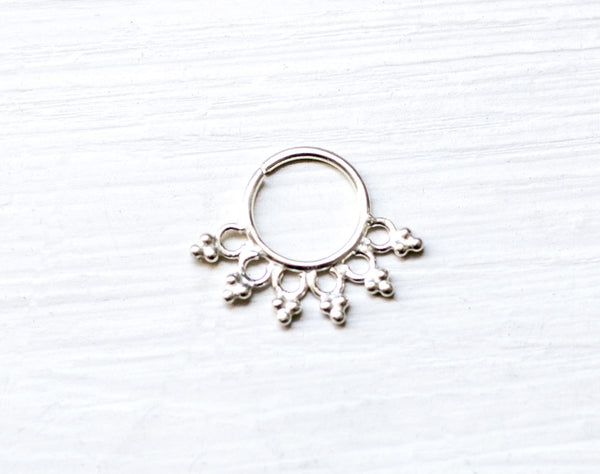 Silver Septum/Earing