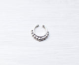 Fake silver septum ring