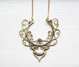 Brass Filagree Necklace