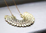Brass Wave Necklace