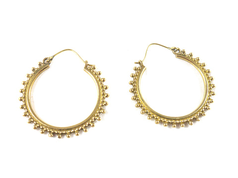 Brass drop hoops