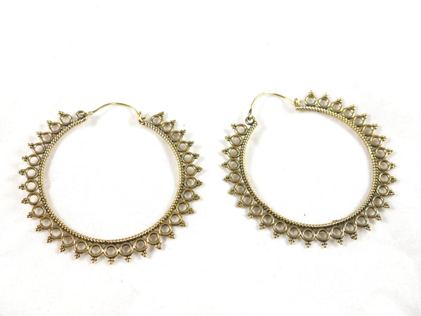 Brass large hoops