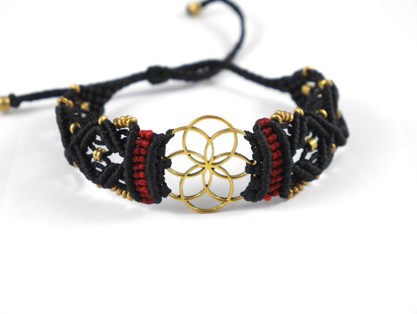 Flower of life Macrame Bracelt