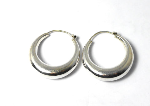 Chunky Sterling Sliver Hoops.
