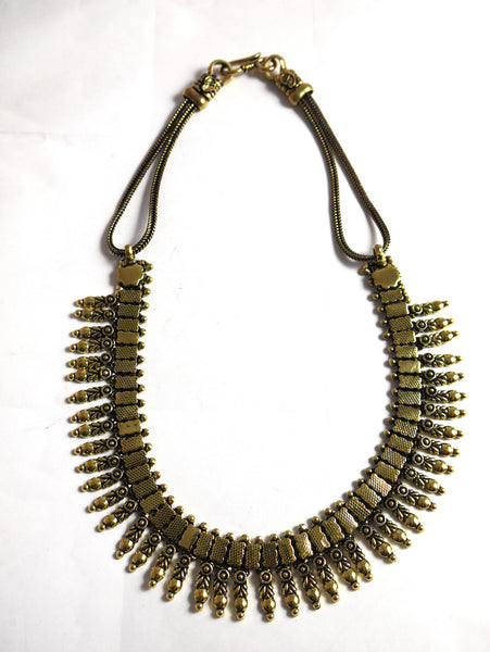 Brass Statement Necklace.