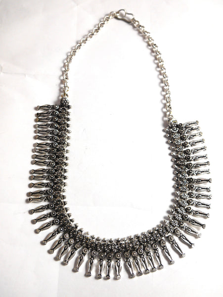 Silver Statement Necklace.