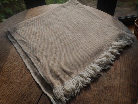 Cream Yak Wool Scarf/Shawl