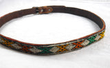 Vintage Kilim fabric leather Belt