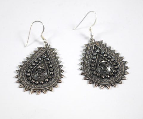 Silver Indian Drop Earrings