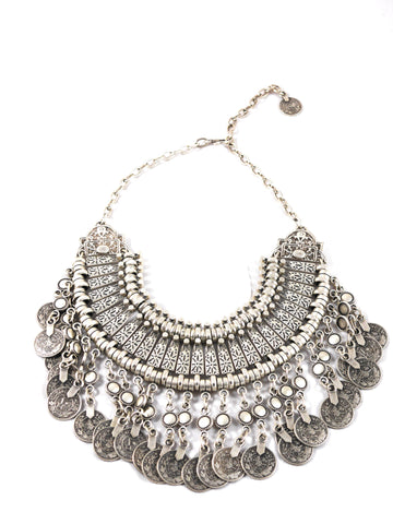 Statement chunky gypsy necklace