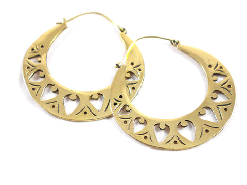 Brass sunset hoops
