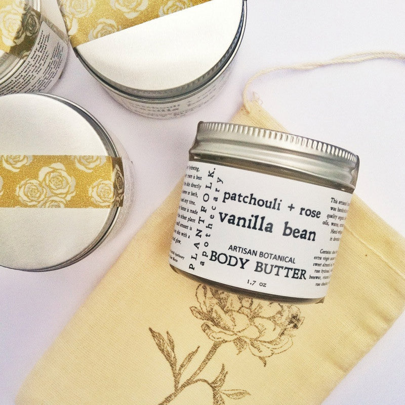 BOTANICAL BODY BUTTER <br> [ patchouli + vanilla bean + wild rose ]