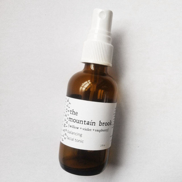 THE MOUNTAIN BROOK<br>FACIAL TONIC  <br> [ willow + violet ]