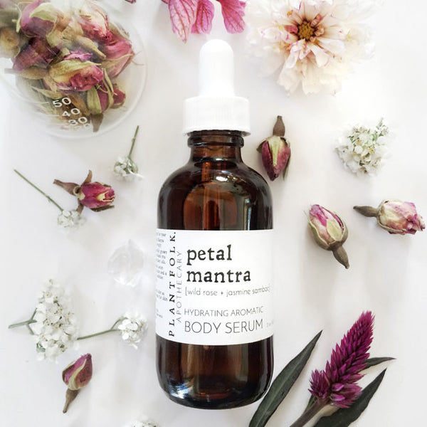 PETAL MANTRA <br> BATH + BODY SERUM <br>[ wild rose + jasmin sambac ]